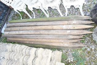 QTY OF TIMBER STAKES, APPROX LENGTH 180CM