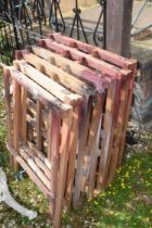 QTY OF TRESTLE LEGS/STANDS FOR TRESTLE TABLES