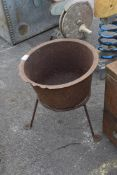 CAST IRON BOWL ON STAND