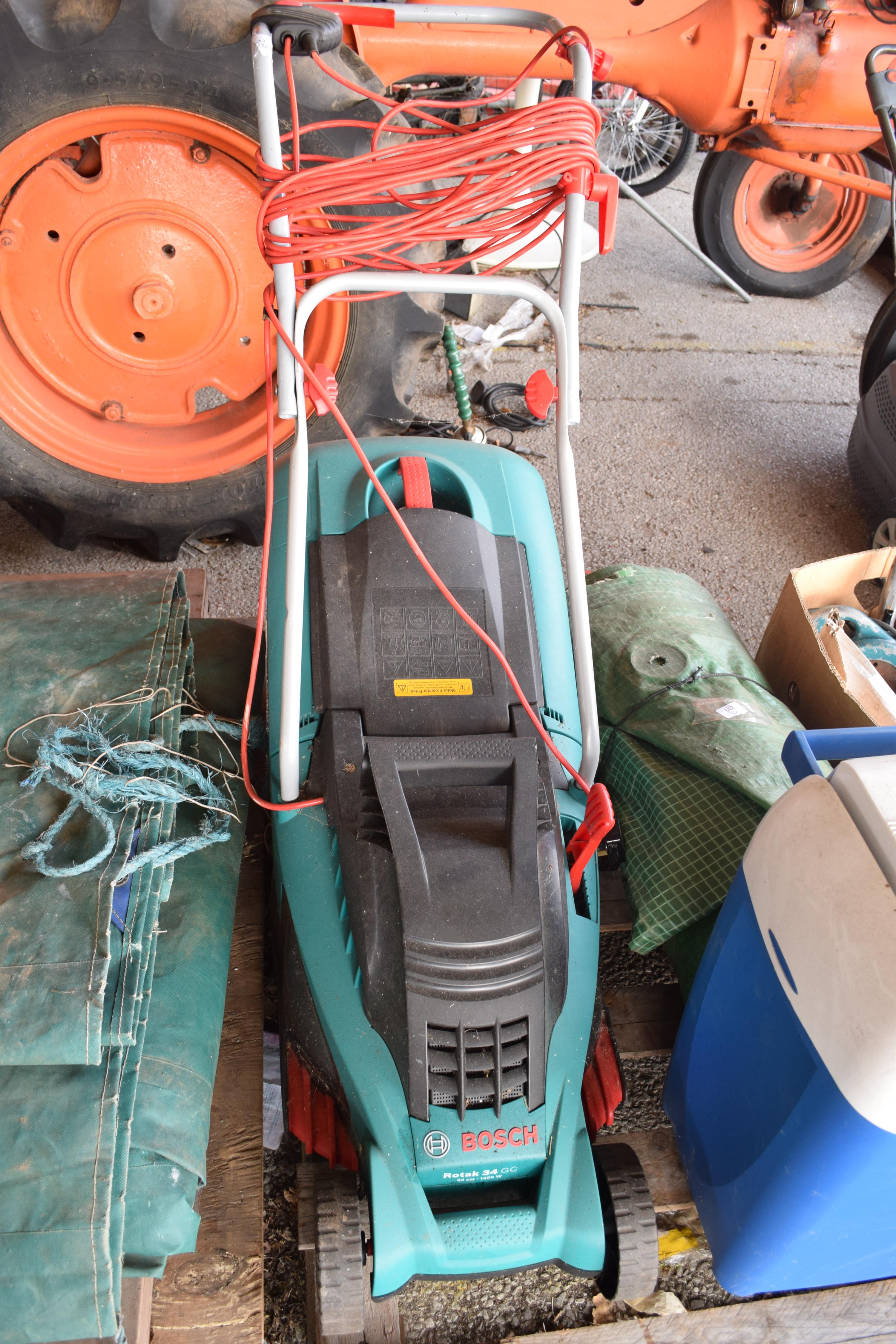 BOSCH ROTAC 34 ELECTRIC LAWNMOWER