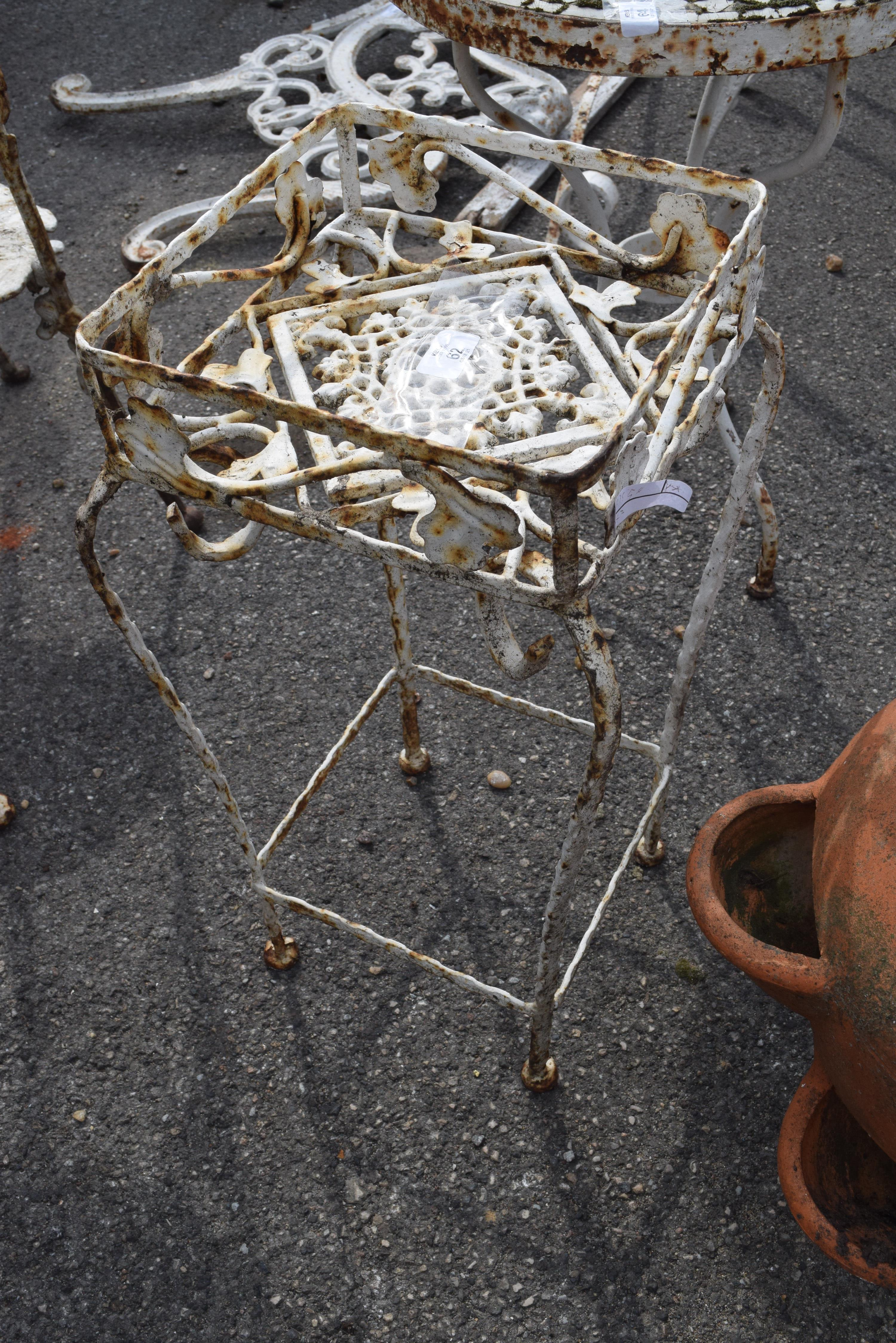 METAL PLANT STAND, HEIGHT 52CM