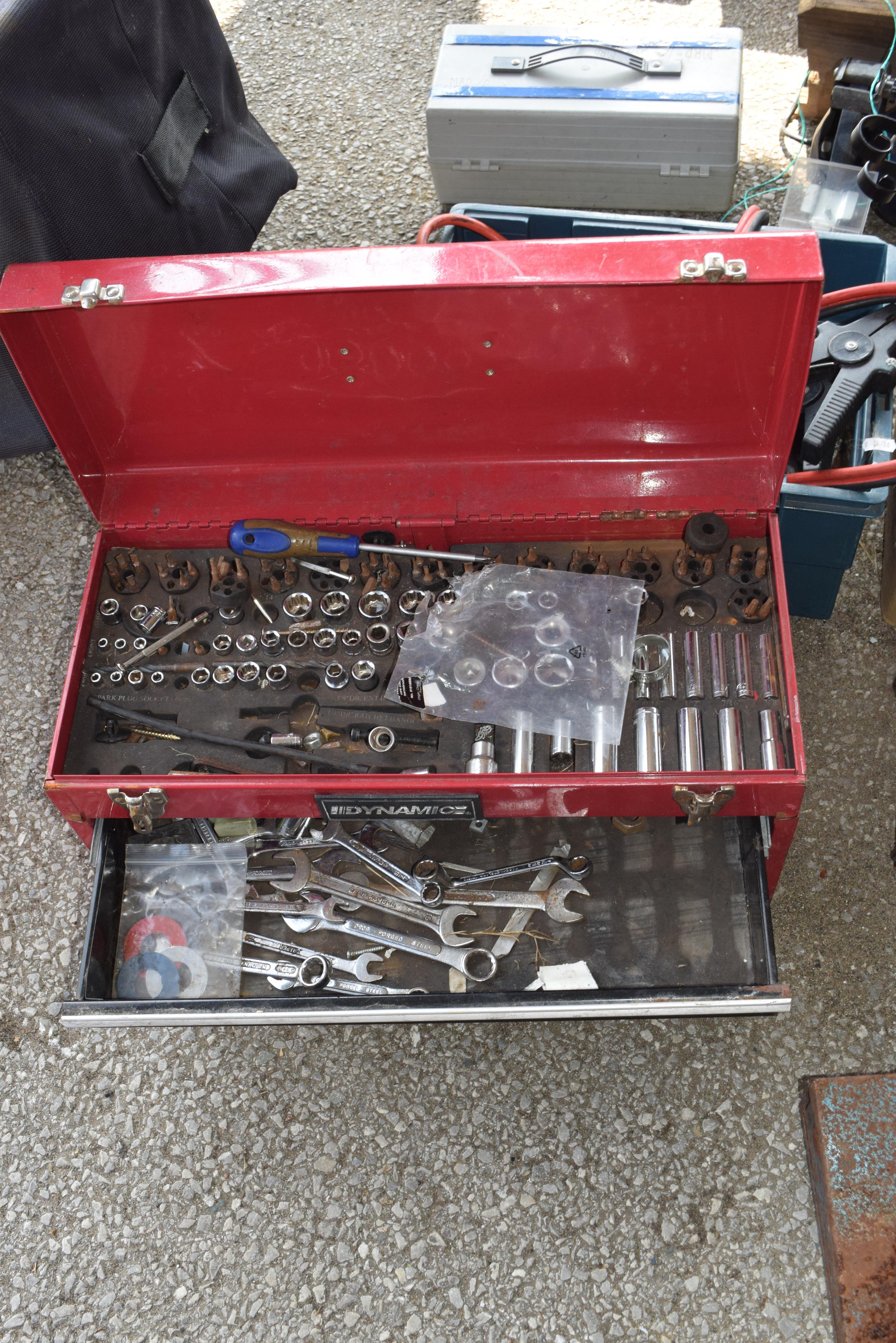 Tool box containing various sockets and spammers - Image 2 of 2
