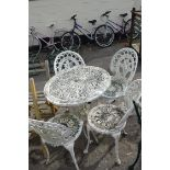 ALUMINIUM GARDEN DINING SET WITH FOUR CHAIRS