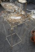 METAL PLANT STAND, HEIGHT 75CM