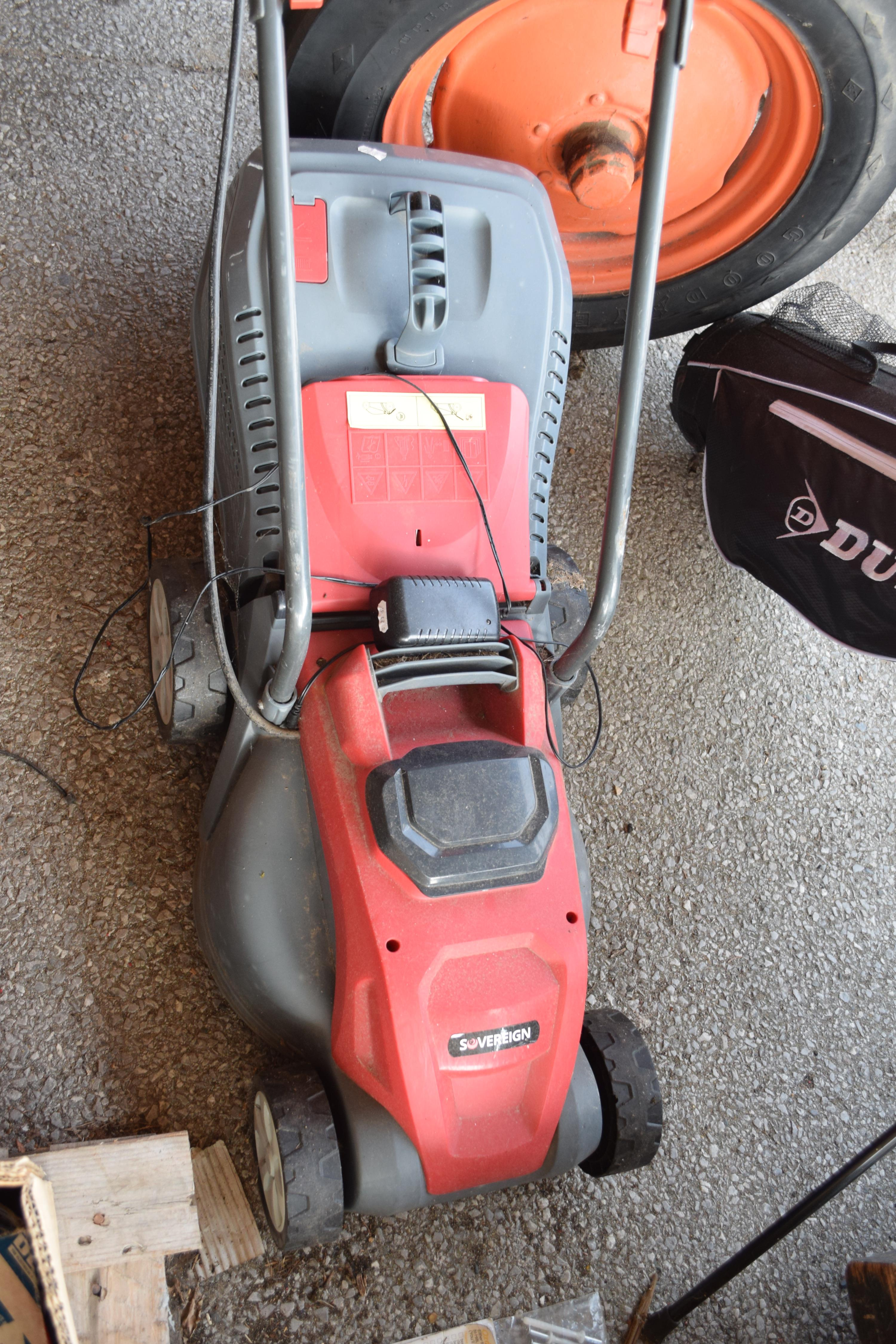 SOVEREIGN ELECTRIC CORDLESS LAWNMOWER