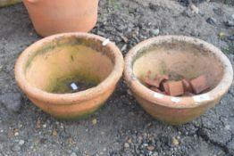 PAIR OF TERRACOTTA PLANT POTS
