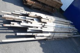 LARGE QTY OF TIMBER BATONS AND VARIOUS LENGTHS AND CUTS OF TIMBER