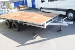 13FT IFOR FLAT BED TRAILER WITH HEAVY DUTY WHEELS