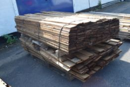 TWO PALLETS OF FEATHER EDGE FENCING BOARD