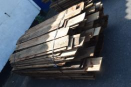 LARGE PALLER OF FEATHER EDGE TIMBER FENCING