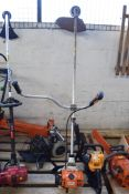 STIHL FS87 PETROL STRIMMER WITH TWO PPE HELMETS