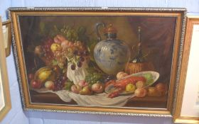In the style of Charles Thomas Bale (British, 19th century), Still Life with mallard ducks and