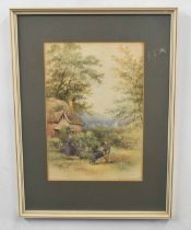 C WHITE, A pair of rural farm scenes, watercolour on paper, signed, 10 x 8ins