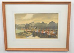 L J CONNOR (British, 20th century), 'Sultry evening at Rye, Sussex', watercolour on arches,