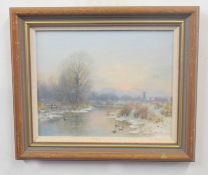 PETER METCALFE (British, 20th century), pair of contemporary Norfolk landscapes, oil on board,