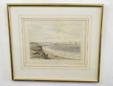 William Daniell (British 18C), Yarmouth from Gorleston . Aquatint on paper . Approx 8x11inches.