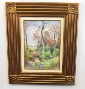 Henry John S. Stannard (British 20C), Woodland scene. Watercolour on paper . Approx 14x10 inches.