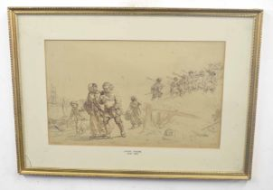 Attributed to LEWIS HAGHE (Belgium, 19th century), a preliminary study depicting a 17th century