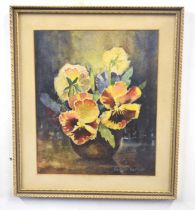 HERBERT BARKER (British, 20th century), A floral Still Life, watercolour laid on paper, signed, 10 x