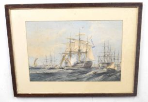 After SIR OSWALD WALTERS BRIERLY (British, 19th century), HMS St Jean D'Acre under the commission of