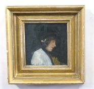 Follower of SIR ALFRED MUNNINGS (British, 20th century), A portrait of a lady in profile, possibly