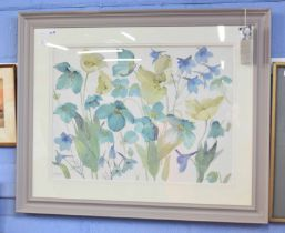 A FLETCHER (British, contemporary), large Still Life watercolour on card, signed, 21 x 29ins