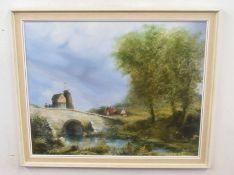 LESLIE LAING (British, 20th century), A Norfolk landscape, oil on board, signed, 16 x 20ins