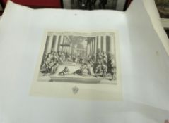 After Raphael (Italian 16C), four engravings from a series published by Angelo Biggi in Roma circa