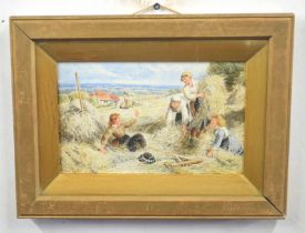VERNON FOSTER (British, late 19th century), 'Haymakers', watercolour on paper, signed, 7 x 11ins
