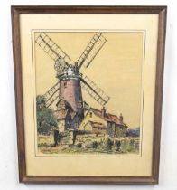 JOHN REES (British, 20th century), Windmill at Cley, Norfolk. Rees worked as an illustrator for