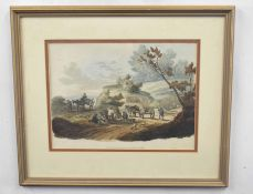 Pair of prints depicting English rural scenes, colour lithographs on paper, 11 x 13ins