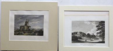 Various 19 Century prints relating to Norfolk & Suffolk, including the tower gateway to East