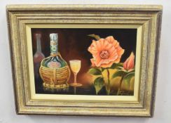 Kenneth Grant (British 20C), A Still life . Oil on canvas, signed. Approx 8.5x13.5 inches.