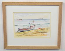 Kenneth Grant (British 20C), Title' Ready for Sea'. Watercolour, signed . Approx 8x10 inches.