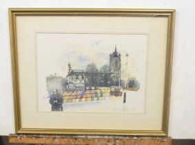 British, 20th century, A set of contemporary limited edition prints of famous landmarks in