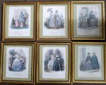 A set of 19 Century Journal du Grand Monde French costume prints (6); various 19 Century prints
