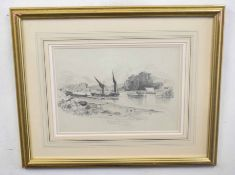 Miles Edmund Cotman (British 19C), The Thames at Twickenham. Pencil on arches, signed and