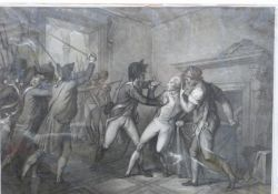 Michael Sloane (British 18C) Apprehension of Robespierre, July 27, 1794, After Jean Jacques Francois