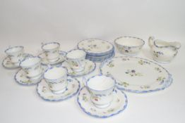 Quantity of tea wares made by Paragon with floral design comprising cups, saucers, milk jug, sugar