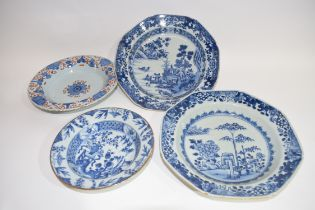 Quantity of ceramics including small 18th century Chinese porcelain blue and white bowl, two further