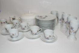 Quantity of ceramics mainly by Limoges, coffee cups, saucers, side plates etc