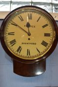 Pearce, Brentford, a late 19th/early 20th century mahogany cased wall clock, the dial with Roman