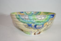 Large Clarice Cliff bowl in the Rhodanthe pattern