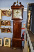 Wilkinson, Preston, a 19th century longcase clock, the square painted face with Arabic and Roman