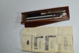 Edney Swing Hygrometer by H Steward Ltd, London, with temperature measuring scale in original
