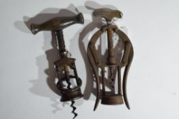 Quantity of corkscrews including one by James Healey & Sons