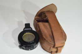 Cooke Troughton & Simms compass in leather case, likely early 20th century manufacture, possibly