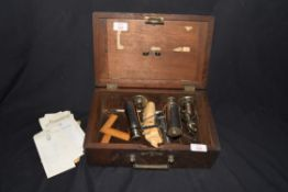 Crosby Steam Gauge and Valve Co of Boston, Massachusetts, hardwood cased steam engine indicator