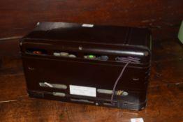 Fada Bakelite cased radio model Coloradio 365, 43cm wide
