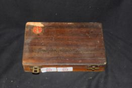 The Imperial Typewriter Co Ltd Leicester England, a wooden case containing various typewriter